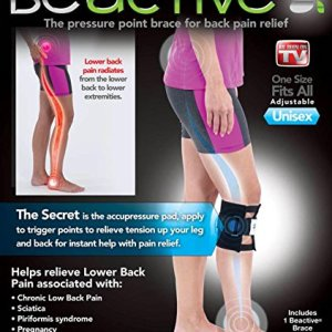 The ORIGINAL Be Active BeActive As Seen On TV Lower Back Pain Pressure Brace