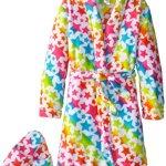 Sleep & Co Girl's Plush Star Bathrobe and Slipper Gift Set