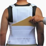 ITA-MED  TLSO (Thoracic Lumbo Sacral Orthosis) with back pocket, Strong Support,Adult, Size: M