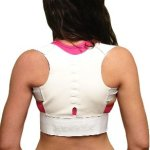 Faburo Magnetic Back Brace for Posture Correction and Back Pain Relief (Medium)