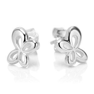 925 Sterling Silver Tiny Butterfly Post Stud Earrings 8 mm Jewelry for Women, Teens, Girls