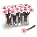 Xonex Cherry Blossom Flower Ballpoint Single Pen (10705) in Our Choice of Pale Pink or White