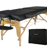 "BestMassage Black 77"" Long 28"" Wide 3"" Pad Professional Series Portable Massage Table, also has the same table in Blue, Cream, Pink, Purple and Burgundy you need buy from other list, this is for black only"