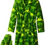 Too Cool 2 Sleep Boy's Plush Dino Bathrobe and Slipper Gift Set