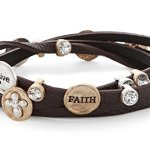 Heirloom Finds Brown Wrap Teen Christian Faith Believe Cross Faith Bracelet
