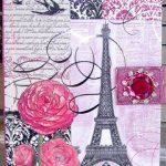 Punch Studio Journal C'est La Vie Jeweled Pink Brooch Diary Embellished Gold Foil Arts Collectible Stationery