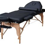 """Black 77"""" Long 30"""" Wide 4"""" Pad Reiki Portable Massage Table with Free Half Bolster and Carry Case. have the same table in Blue, Cream, Burgundy, Pink and Purple"""