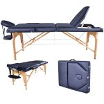 BestMassage Black Reiki Portable Massage Table, have the same table in Burgundy, Cream, Blue, Purple and Pink