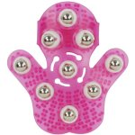 Dahoc Massage Glove with 9 360-degree-roller Metal Roller Ball Beauty Body Care