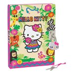 NEW SANRIO HELLO KITTY LOCK LOCKING KEY DIARY NOTE BOOK NOTEBOOK jungle 288pages