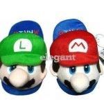 "Super Mario (Mario & Luigi) Kids Slipper Set One Size Fits All up to 9"""