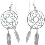 *Pair of Lightweight Carefree Dream Catcher Earrings-Feather Dangle Earrings for Women or Teen Girls