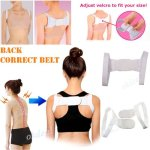 Kathy Mall New Elastic Therapy Back Support Brace Belt Band Posture Shoulder Corrector