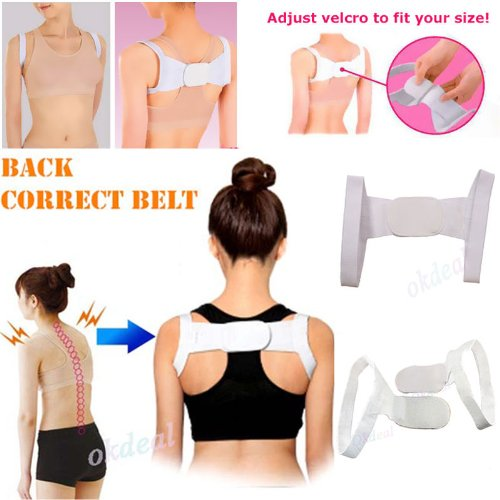 Kathy Mall New Elastic Therapy Back Support Brace Belt Band Posture Shoulder Corrector | All About Scoliosis