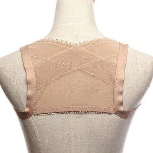 Follsy (Size M) StretchyShoulder And Back Posture Brace Spine Support Corrector & Blue Headband