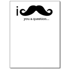 I Mustache You a Question Funny Notepad Note Book Memo Pad Prank Joke Gag