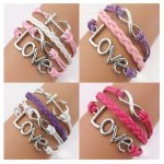 Twinkle Handmade Fashion Charms Friendship Gift - Braid Personalized Suede Leather Bracelet