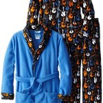 Bunz Kids Big Boys' Guitar Rock Bathrobe and Pajama Set