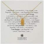 """Dogeared """"I Am"""" Strong Small Dogtag Pendant Necklace, 18"""""""