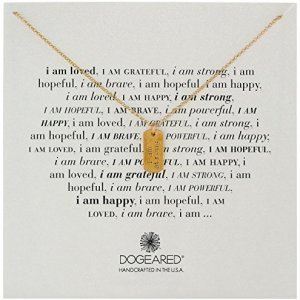"""Dogeared """"I Am"""" Strong Small Dogtag Pendant Necklace, 18″"""