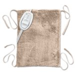 Sunbeam Ultra Soft Heating Pad with Straps, Beige, Standard