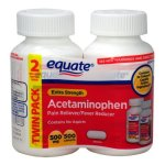 Equate Extra Strength Acetaminophen LARGE Twin-Pack 500mg, 500 tabs