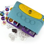 Crorey Creations My Image Button Maker, Blue/Yellow