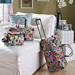 3-pc. Trendy Luggage Sets-Geo Circles