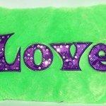 "Solid Love Decorative Super Soft Plush Bedroom Accent Throw Pillow for Children Teens & Tweens (15"" x 11"")"
