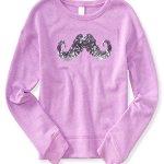 P.S. From Aeropostale Girls Activate Mustache Sweatshirt