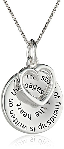 Sterling Silver The Story Of Friendship Disc And Heart
