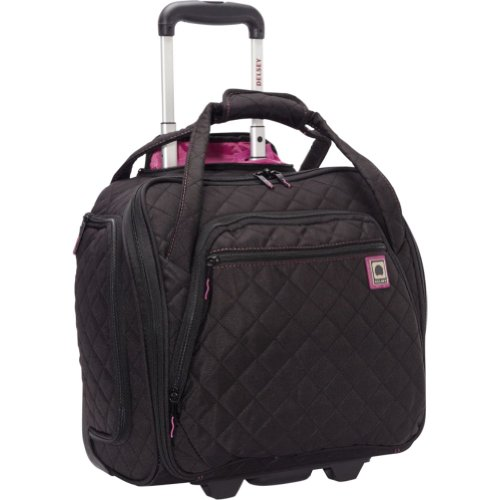 Delsey Quilted Rolling Underseat Tote Exclusive All