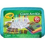 CRAYOLA -Giant ART SET - Over 100 Pieces - CRAYONS Markers Glitter Glue Scissors Construction Paper Coloring Book COLORED Pencils - CHRISTMAS/Birthday GIFT Set