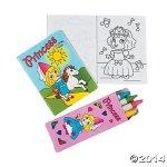 One Dozen Mini Princess Coloring Sets - Crayons & Coloring Books