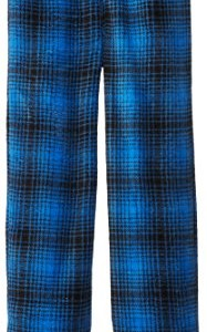 Calvin Klein Big Boys' CK Blue Plaid Plush Pajama Pant