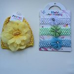 Stocking Stuffer Gift Pastel Collectionset of Two Beautiful Baby Hats with Flower & 3 Baby Headbands for All Teens & Adults