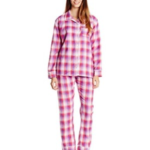 Bottoms Out Women's Plaid Flannel Pajama Set