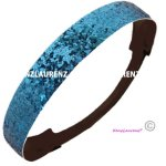 Teal Glitter Headband by Kenz Laurenz - Elastic Stretch Sparkly Fashion Headbands for Teens Girls Women Softball Pack Volleyball Basketball Set Sports Teams Store