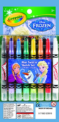 Crayola Frozen Mini Twistable Crayon Amp Paper Set