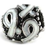 White Multi Ribbon Bracelet Charms Fits Pandora Style Bracelets Buy 1 Give 1 -- 2 for Only $4.99