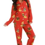 Del Rossa Women's 100% Cotton Lightweight Flannel Pj Set - Long Pajamas