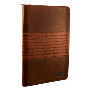 """Strong and Courageous"" Zippered Flexcover Journal"