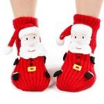 Field4U® Kids' 3D Christmas Santa Knit Slipper Socks With Non-Skid Soles Christmas Gift