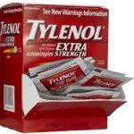 Tylenol Pain Reliever/Fever Reducer, Extra Strength, 500 Mg Individual Sealed 2 Caplets in a Packet (Box of 50 Packets) Total 100 Caplets