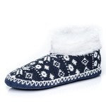 Noble Mount Womens North Pole Indoor Ankle Boot Slippers
