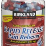 Kirkland Signature Extra Strength Rapid Release Pain Reliever Acetaminophen 500 MG 400 rapid release gelcaps Bottle