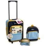 "3-piece Kids Luggage Sets Blue for Boys - Carry-on Suitcase for Boys with Wheels (16""), Backpack for Boys (12""), and Blue Travel Bag for Boys(8"")"