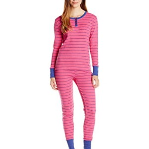 Bottoms Out Women's Striped Waffle Knit Pajama Set