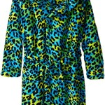Up Past 8 Big Girls'  Fuzzy Hooded Robe