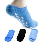 kilofly Non-Skid Soft Cotton Gripper Socks Value Pack, Set of 3 Pairs